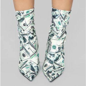$100 Bill Booties